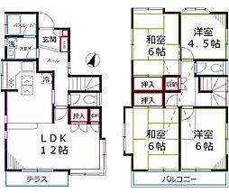 [一戸建] 東京都国分寺市富士本1丁目 の賃貸【/】の間取り