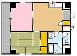 松山ビルディング[401号室]の間取り