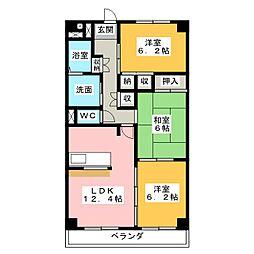 栄ma[6階]の間取り