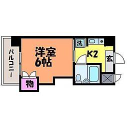 愛媛県松山市味酒町1丁目の賃貸マンションの間取り