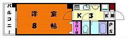 福岡県福岡市東区千早5丁目の賃貸マンションの間取り