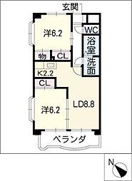 ボヌール[3階]の間取り