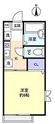 千葉県佐倉市西志津1丁目の賃貸アパートの間取り