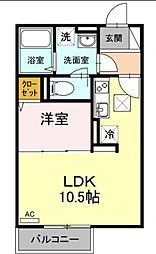 laid-back[2階]の間取り