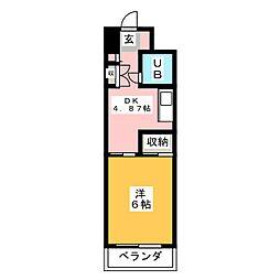 CASA NOAH鶴舞公園II[5階]の間取り