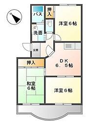 ロイヤルシティII[2階]の間取り