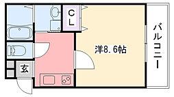 兵庫県西宮市津門綾羽町の賃貸アパートの間取り