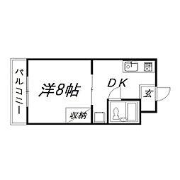 静岡県浜松市中区高丘西1の賃貸マンションの間取り