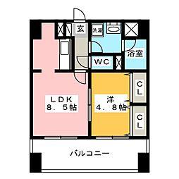 パークコート吉塚[6階]の間取り