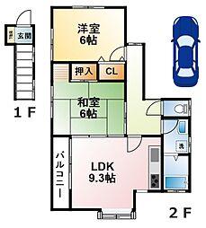 [テラスハウス] 千葉県大網白里市金谷郷 の賃貸【/】の間取り