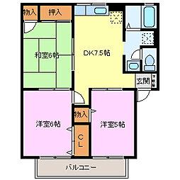 ディアコートS[2階]の間取り