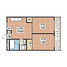 茨木清水ハイツ[3階]の間取り