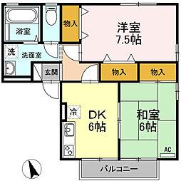 エトワールモーリ[2階]の間取り