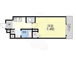 阪急京都本線 南方駅 徒歩9分の賃貸マンション 5階1Kの間取り