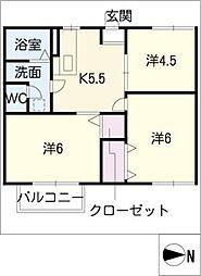 フォーブルA[2階]の間取り