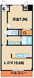 ポラリス参番館[4階]の間取り
