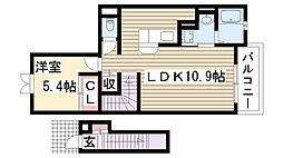 愛知県名古屋市名東区一社4丁目の賃貸アパートの間取り