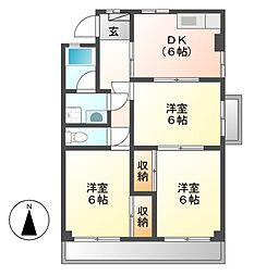藤本コーポ[3階]の間取り