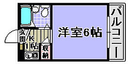 ユウパレス穴田[5-B号室]の間取り