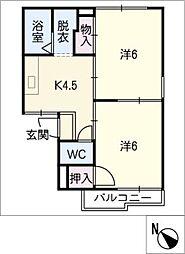 プチタウン神沢BC棟[2階]の間取り