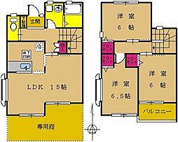 [タウンハウス] 東京都町田市鶴間1丁目 の賃貸【/】の間取り