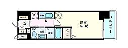 エステムコート梅田天神橋IIIアヴァンテ 7階1Kの間取り