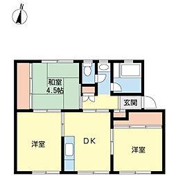 樋ノ口アパート[101号室]の間取り