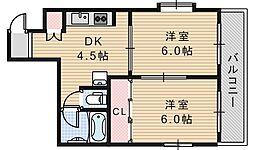 ルナハイム野田[301号室]の間取り