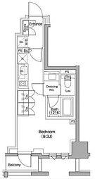 ザ・パークハビオ碑文谷 6階ワンルームの間取り