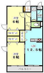 シーショア共栄[2階]の間取り