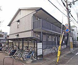 京都府京都市山科区大宅沢町の賃貸アパートの外観