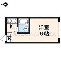 グローアップ京都[210号室]の間取り