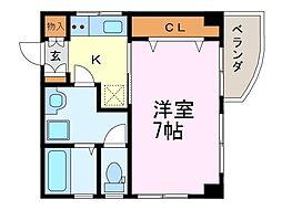 メゾン富士見[4A号室]の間取り