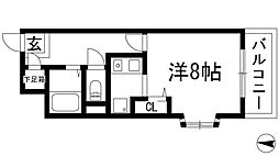大阪府箕面市西小路3丁目の賃貸マンションの間取り