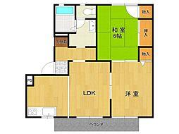 ファミール仁川5[1階]の間取り