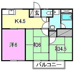 コーポ安田[202 号室号室]の間取り