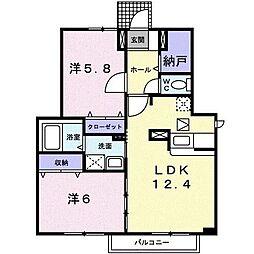 K・TエミネンスヒルズB[1階]の間取り