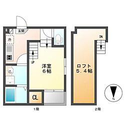 志賀三丁目D・SKHコーポ[2階]の間取り