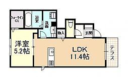 (仮称)D-room大県[101号室号室]の間取り