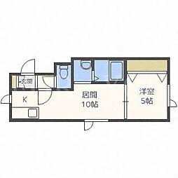 北海道札幌市中央区南七条西13丁目の賃貸アパートの間取り