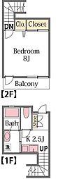 [テラスハウス] 群馬県高崎市東貝沢町3丁目 の賃貸【/】の間取り