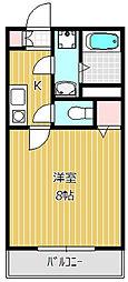 プリズム8番館[2階]の間取り