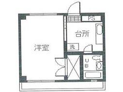 絹ヶ丘ハイツ第2[3階]の間取り