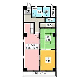 サンシャイン神山[3階]の間取り