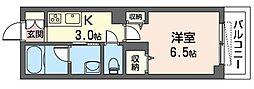 JR京浜東北・根岸線 南浦和駅 徒歩4分の賃貸マンション 2階1Kの間取り