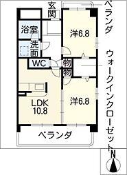 東雲(しののめ)[3階]の間取り