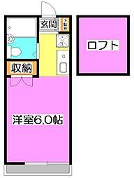 東京都練馬区高松2丁目の賃貸アパートの間取り