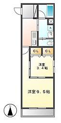 Sun Heart 池下 (サンハート)[2階]の間取り