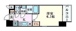 エスリード新大阪グランゲートノウス 8階1Kの間取り