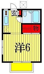 千葉県船橋市田喜野井7丁目の賃貸マンションの間取り